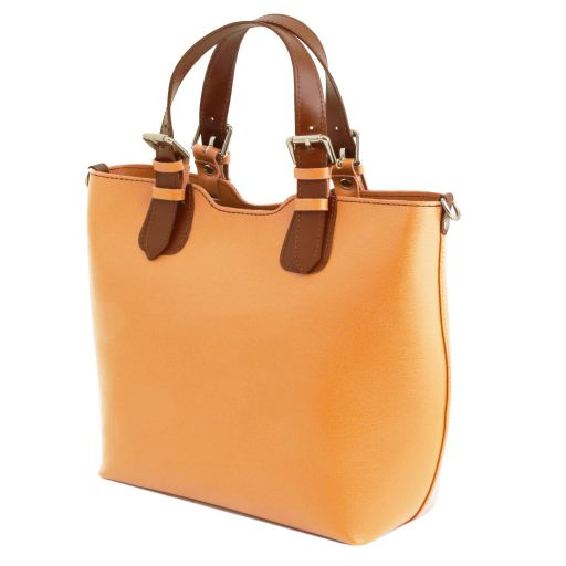 TL BAG Saffiano leather handbag - Light Taupe