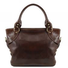 ILENIA LEATHER SHOULDER BAG