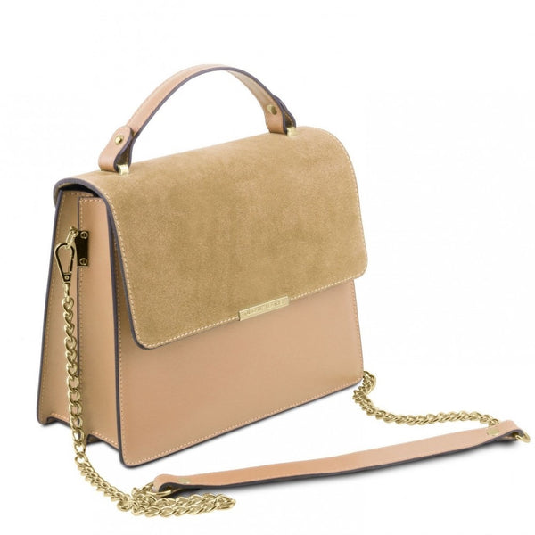 TUSCANY LEATHER IRENE HANDBAG WITH CHAIN STRAP