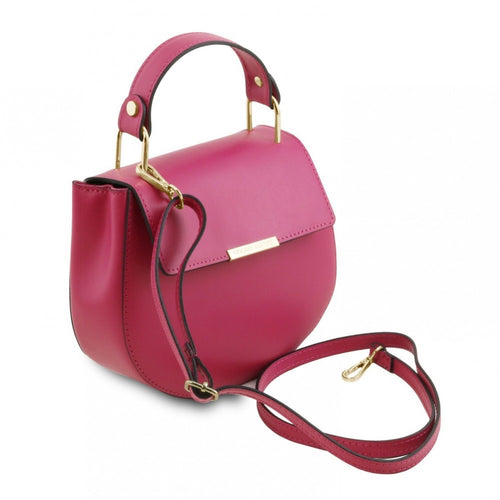 TUSCANY LEATHER LUNA HANDBAG MAGENTA -