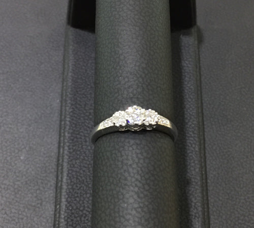 Three Diamond/Clusters Engagement Ring