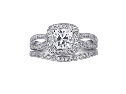 Lafonn Square Diamond Engagement Ring