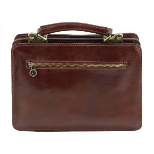 Tania Leather lady handbag -  Brown