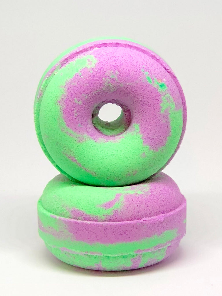 grape bubblegum donut bath bomb