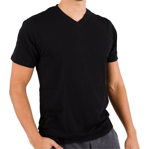 Black V-neck Under Tee in Pima Cotton