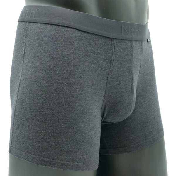Dark Heather Boxer Brief In Modal