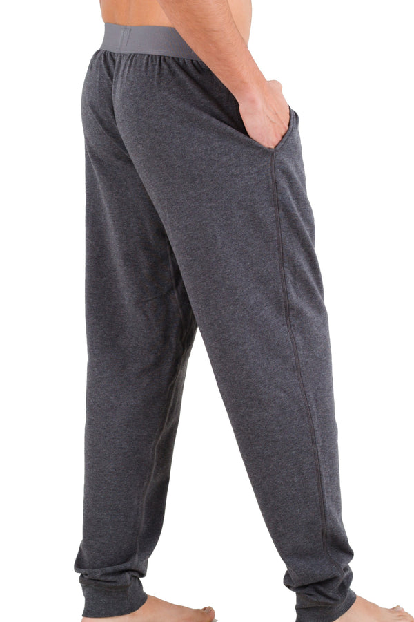 Dark Heather Lounge Pants in Pima Cotton