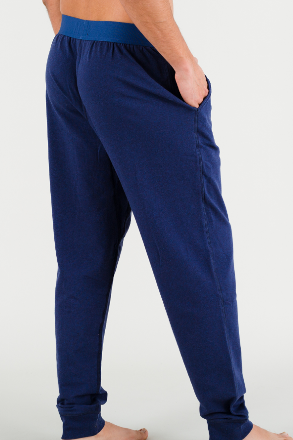 Heather Navy Lounge Pants in Pima Cotton