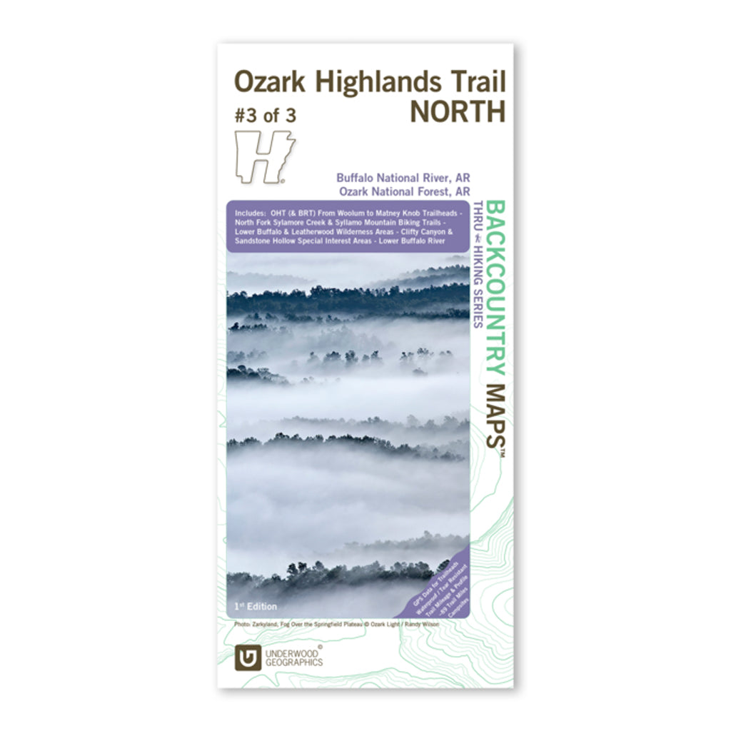 Ozark Highlands Trail Map North