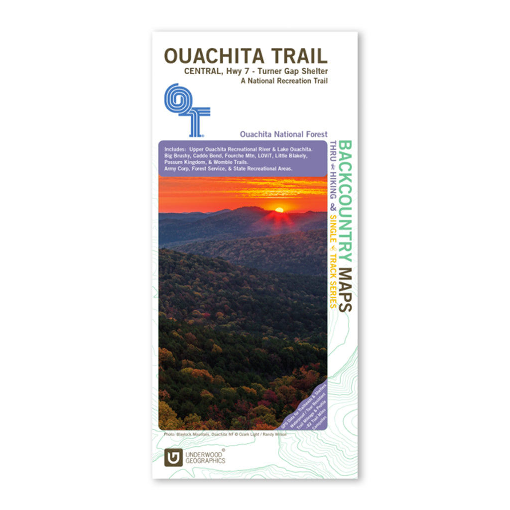 Ouachita Trail Map Central