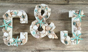 Personalised beach theme letters