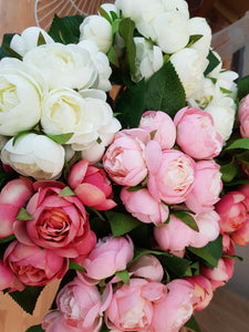 Artificial rose cluster bouquets