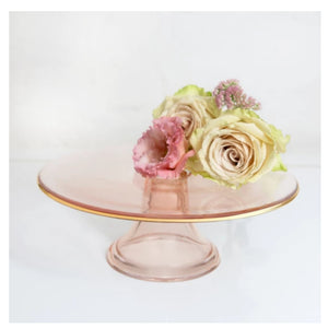 Cristina Re Rose glass cake stand