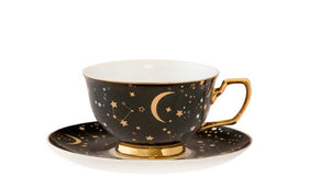 teacup it;s written in the stars ebony & gold