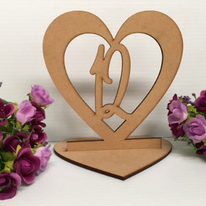 SINGLE HEART TABLE NUMBERS