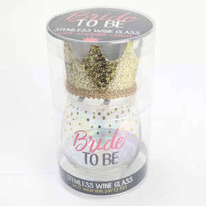 Bride to be celebration glass