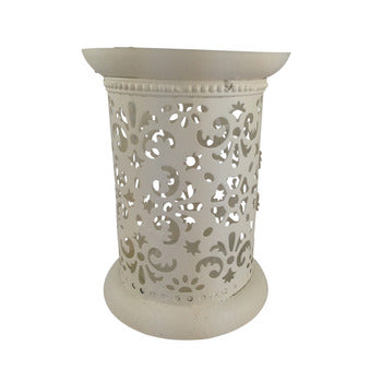 Cream wind light pillar candle holder 17 cm