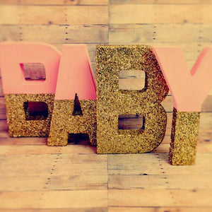 Gorgeous gold dipped letters