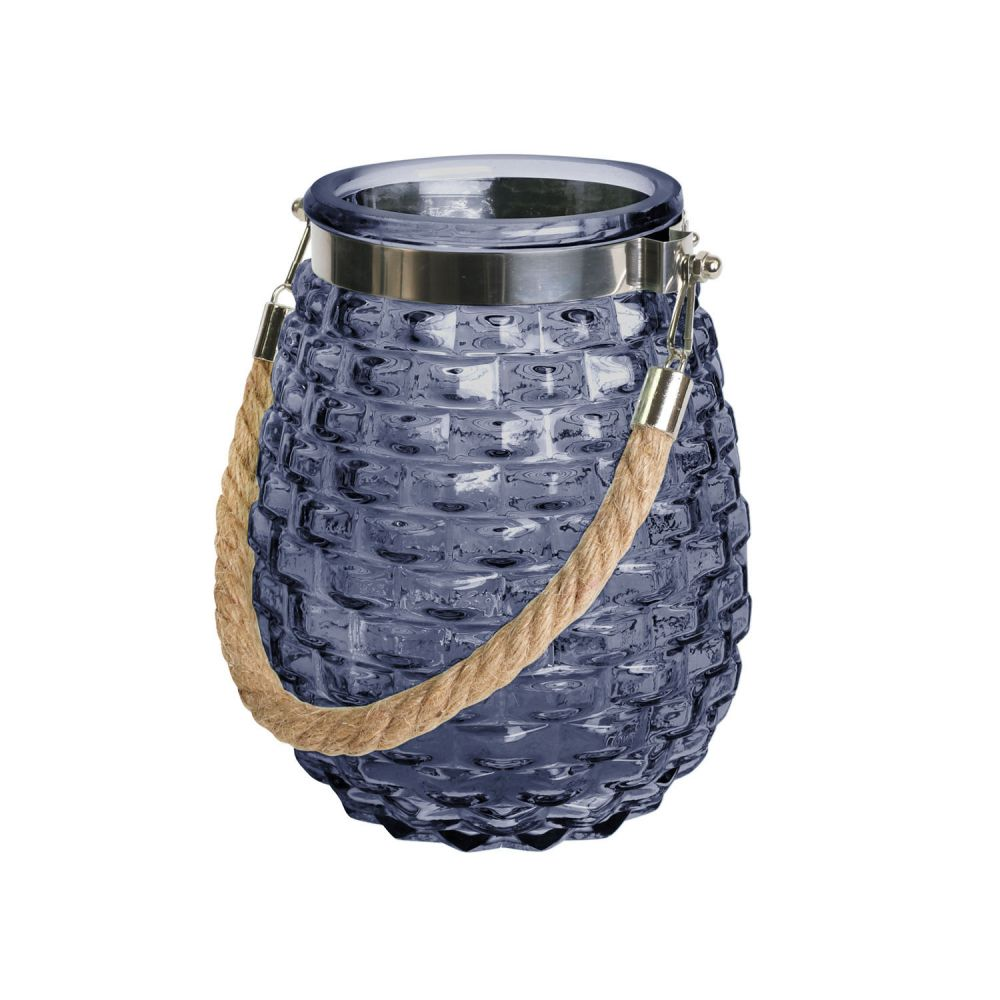 Hamptons glass lantern small