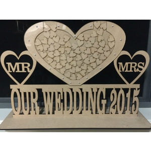 OUR WEDDING/ENGAGEMENT DROP BOX ON STAND