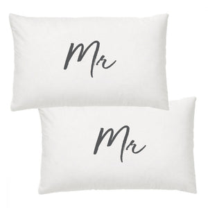 Mr and Mr pillow cases