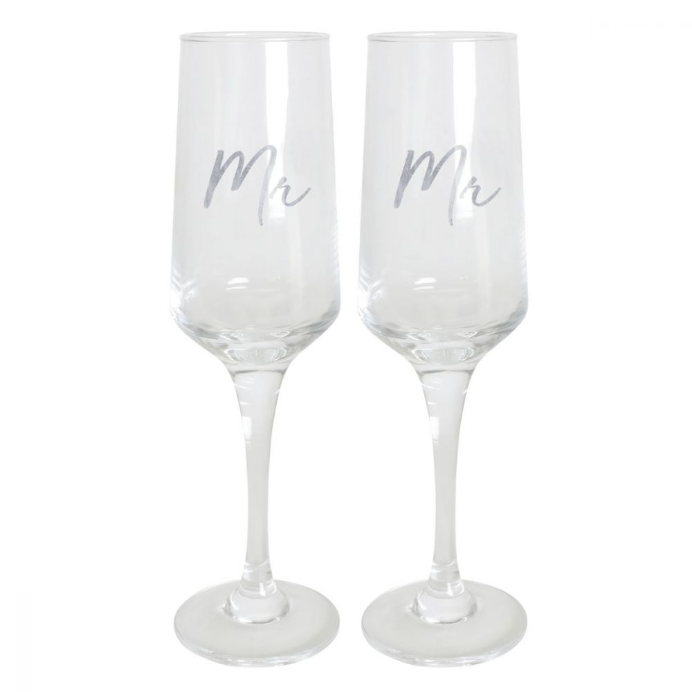 Mr and Mr champagne flutes