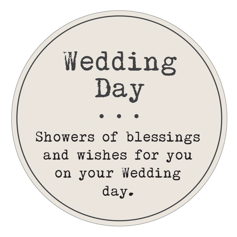 Wedding day wish jar