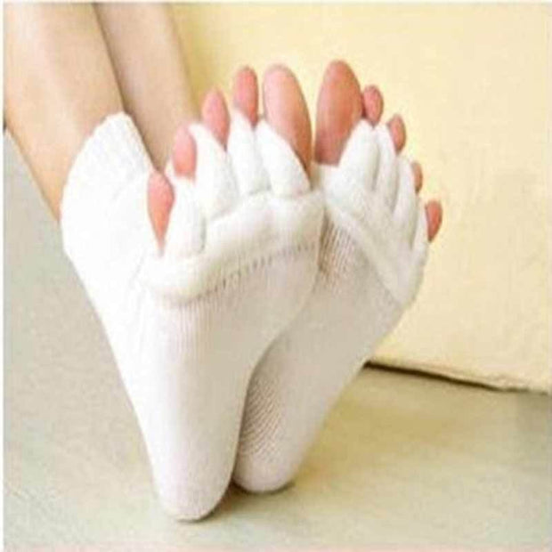 1Pair Foot Massager Socks Finger Separator Massage Sleeping Health Foot - Finger Separator Socks - PropelGear