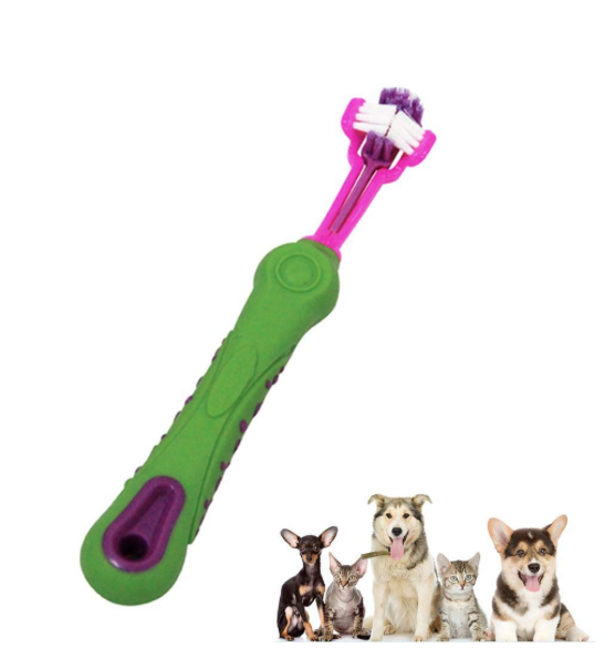 3 Sided Toothbrush Doggie Brush Pets Oral Care Dental Hygiene - PropelGear