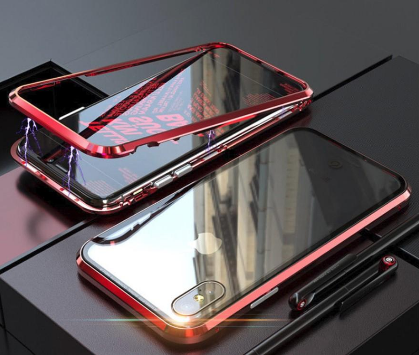 360 Magnetic Adsorption Case with Tempered Glass Front and Back Cover For Samsung Galaxy S10 S8 S9 Plus Note 9 - PropelGear