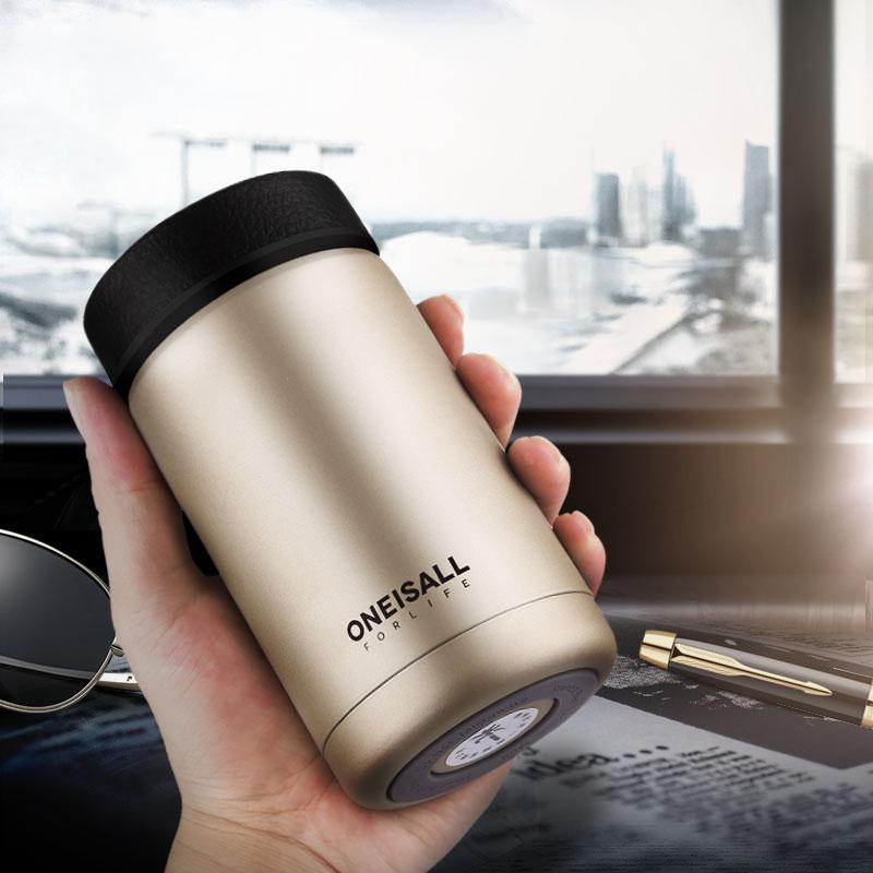 400ml Insulated Thermo With Tea Travel Stainless Steel Infuser Gift Mug Cup Men Thermos bygf76