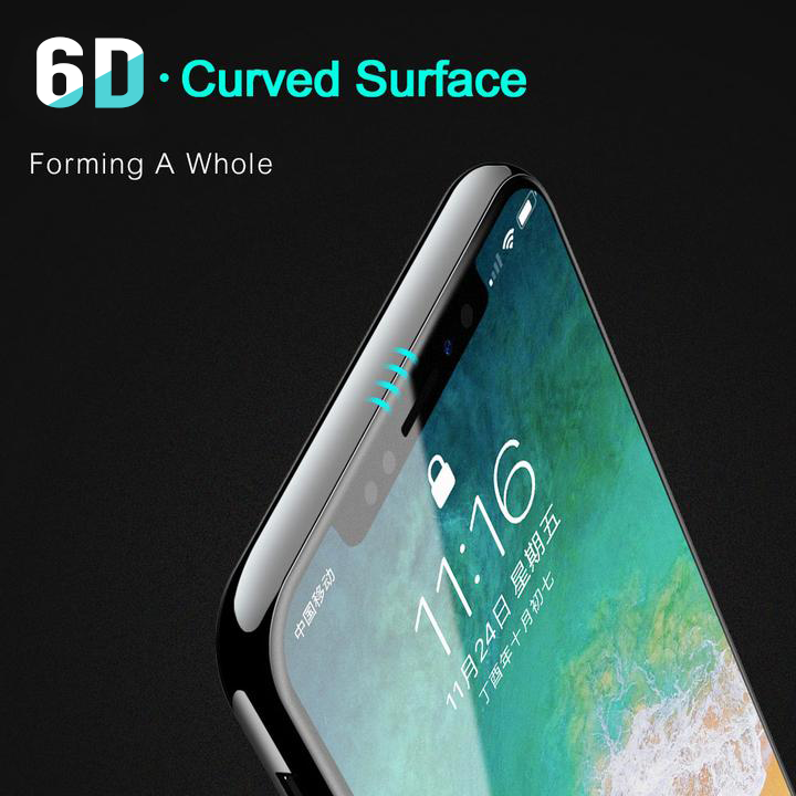 6D Curved Full Cover Tempered Glass Screen Protector Film For iPhone - PropelGear
