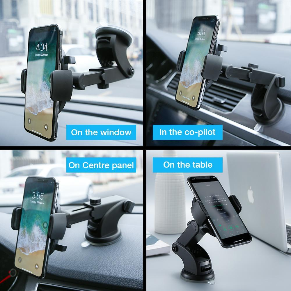Automatically Locking Windshield Phone Holder, Universal Fit - PropelGear