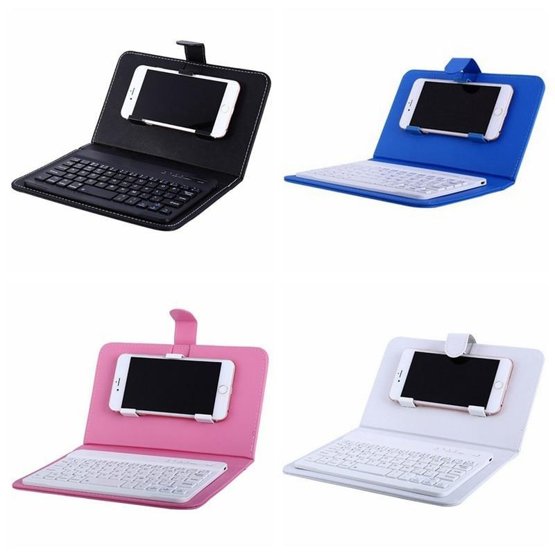 BLUETOOTH PORTABLE WIRELESS KEYBOARD WITH PU LEATHER CASE FOR IPHONE ANDROID MOBILE PHONE - PropelGear