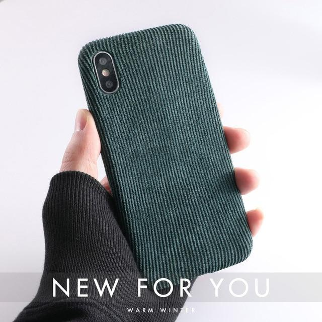 Cloth Texture Ultra Thin Canvas Grid Pattern Case For iPhone - PropelGear