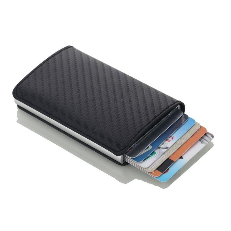 100% authenticated really comfortable hot sale Credit Card Holder Business ID Card Case Fashion Automatic RFID Aluminium  Wallet