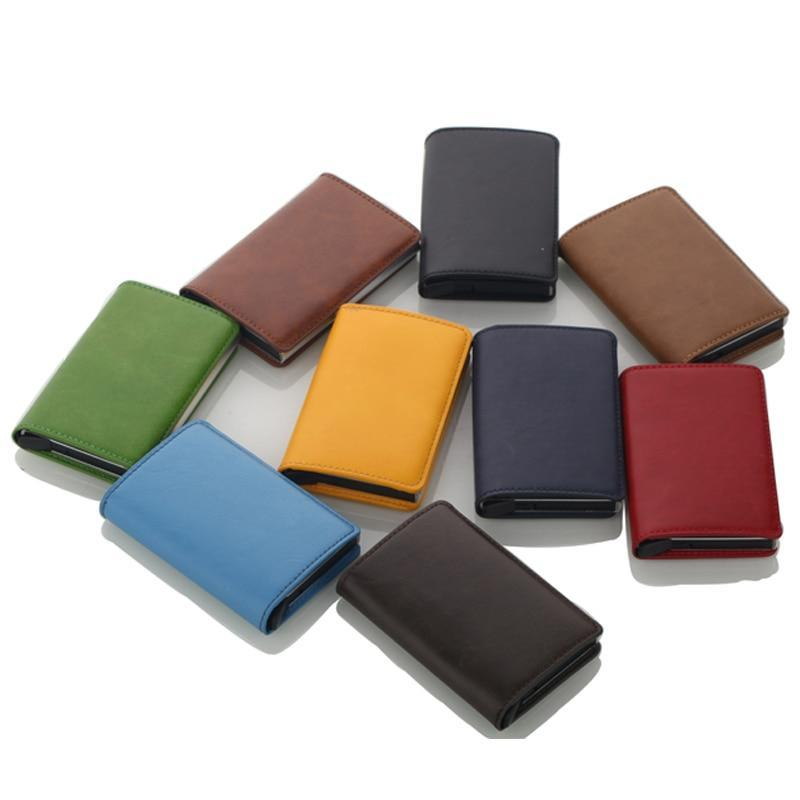 the best attitude dbd3a 7d5d6 Credit Card Holder Business ID Card Case Fashion Automatic RFID Aluminium  Wallet