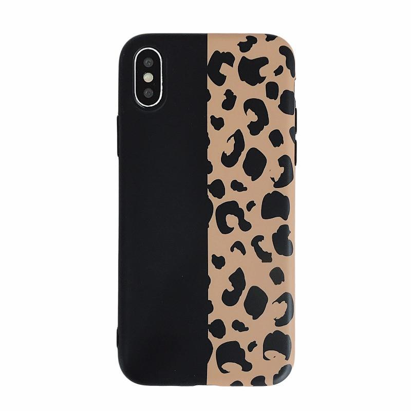 new york ba437 948f9 Fashion Leopard Print Phone Case Back Cover for iPhone XS Max/XR/XS/X/8  Plus/8/7 Plus/7/6s Plus/6s/6 Plus/6
