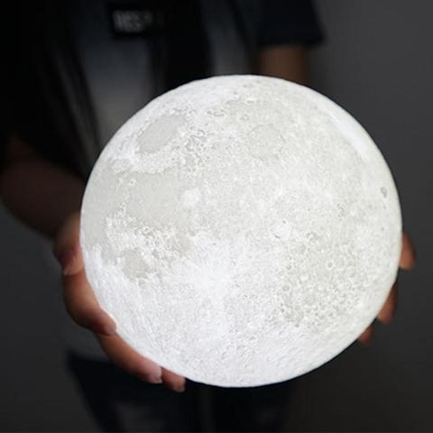 Luna® - Moon Shaped Night Light With Touch Sensor - PropelGear