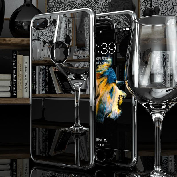 LUXURY MIRROR PLATED iPhone 360 CASE + TEMPERED GLASS - PropelGear