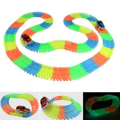 Magic Rainbow™ Glowing Car Racing Set for Kids- Awesomely FUN! - PropelGear