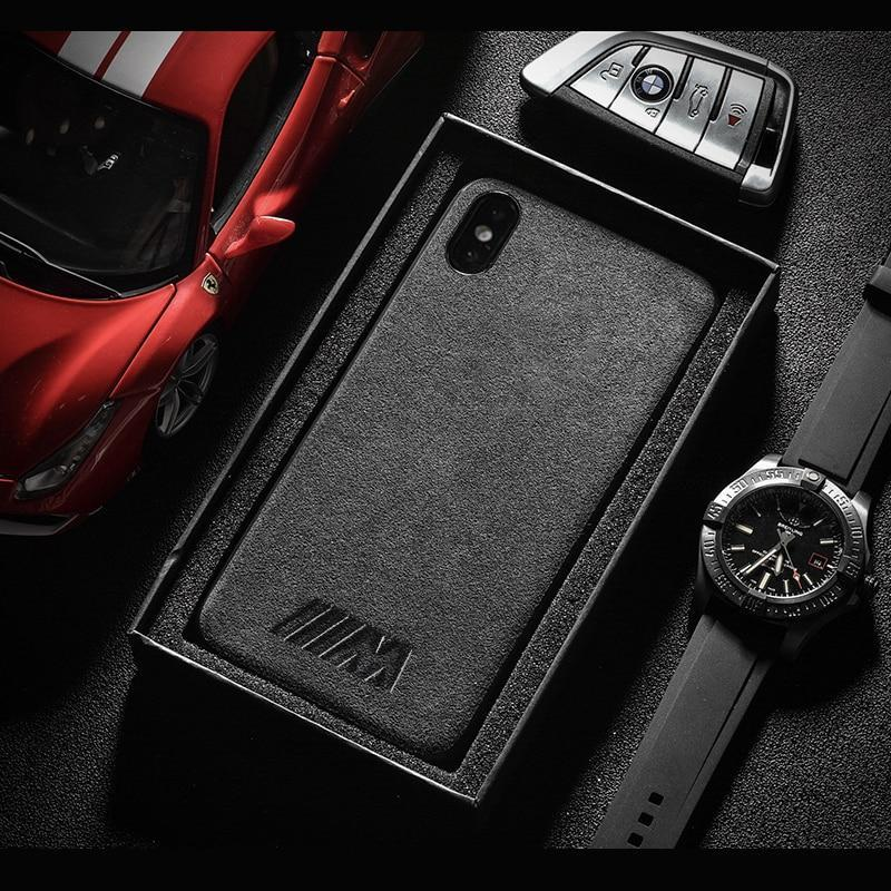 Motorsport AMG GTR Cover Case for iphone 6 6S plus 7 plus 8 plus X XR XS MAX Luxury car phone leather case - PropelGear