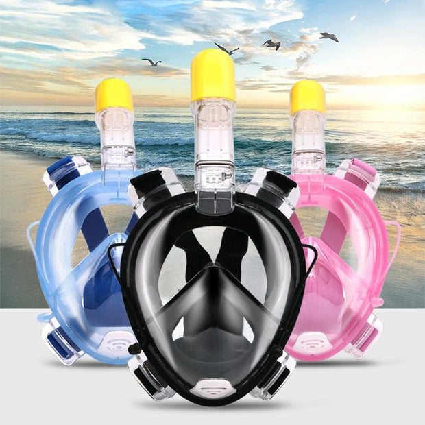 NEW FULL FACE SNORKEL ANTI FOG SCUBA DIVING MASK 2018 - PropelGear