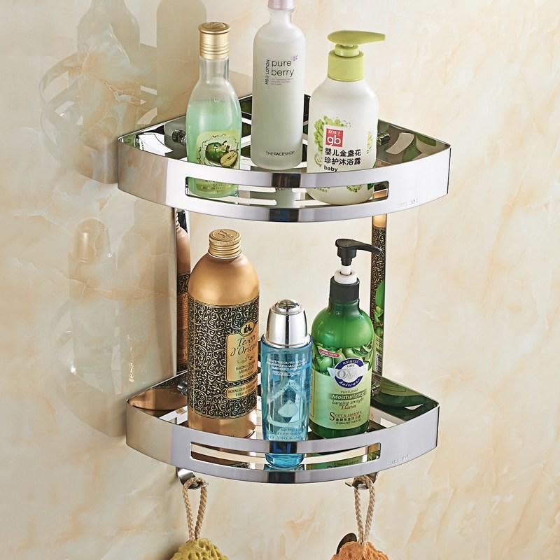 Shower Caddy Stainless Steel Corner Shelves - Stainless Steel Bathroom Corner Shelves - PropelGear