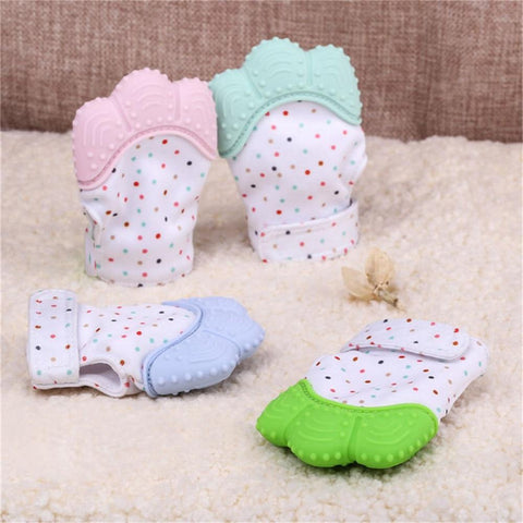 Teething Glove For Infants Fingers With Sound Baby Nursing Mittens Teether Pacifier Newborn - PropelGear