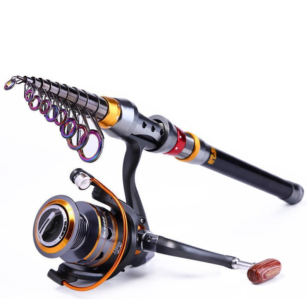 TRAVEL TELESCOPIC FISHING ROD & REEL COMBO - PropelGear