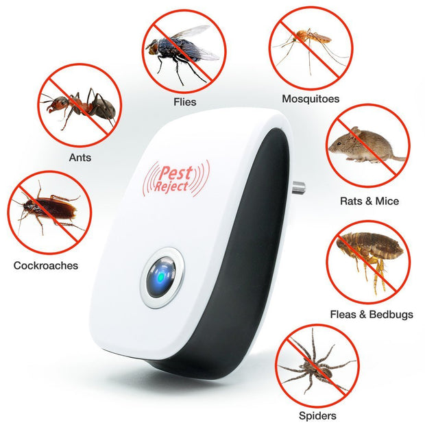 Ultrasonic Pest Reject - Cockroach Mosquito Mice Rodent Repellent - PropelGear