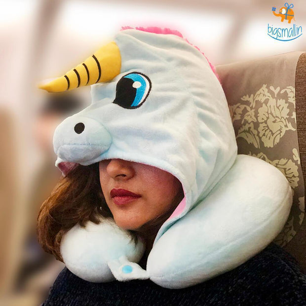 Unicorn Hoodie Neck Pillow - Unicorn Neck Pillow With Hoodie - PropelGear