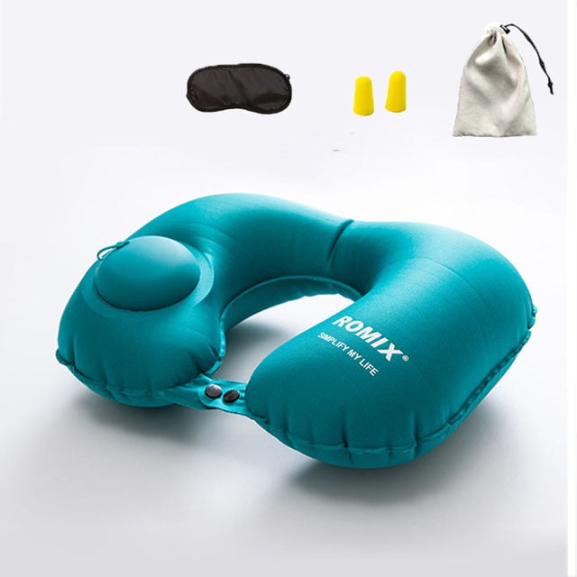 INFLATABLE NECK PILLOW FOR TRAVEL - PropelGear