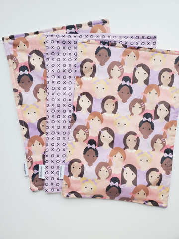 burp cloth - girl power